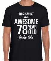 Awesome year jaar cadeau t-shirt zwart heren 10205333