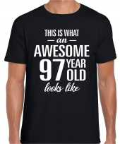 Awesome year jaar cadeau t-shirt zwart heren 10205336
