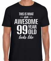 Awesome year jaar cadeau t-shirt zwart heren 10205341