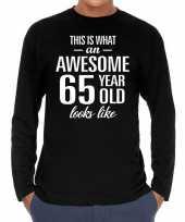 Awesome year jaar cadeaushirt long sleeves zwart heren 10195937