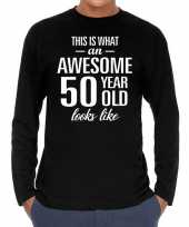 Awesome year jaar cadeaushirt long sleeves zwart heren 10195940