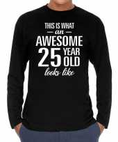Awesome year jaar cadeaushirt long sleeves zwart heren 10195945