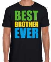 Best brother ever beste broer ooit fun t-shirt zwart heren