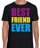 Best friend ever beste vriend ooit fun t-shirt zwart heren