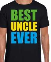 Best uncle ever beste oom ooit fun t-shirt zwart heren