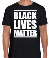 Black lives matter demonstratie protest t-shirt zwart heren