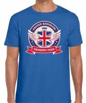 Blauw engeland drinking team t-shirt heren