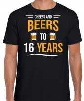 Cheers and beers jaar verjaardag cadeau t-shirt zwart heren
