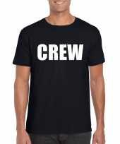Crew tekst t-shirt zwart heren
