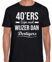 Ers zijn veel wijzer dan dertigers verjaardags t-shirt zwart heren