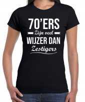 Ers zijn veel wijzer dan zestigers verjaardags t-shirt zwart dames