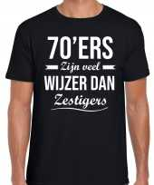 Ers zijn veel wijzer dan zestigers verjaardags t-shirt zwart heren