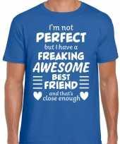 Freaking awesome best friend beste vriend cadeau t-shirt blauw