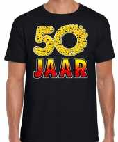Funny emoticon t-shirt jaar abraham zwart heren