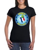 Geslaagd t-shirt vlaggenmast tas zwart dames