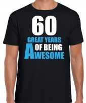 Great years of being awesome verjaardag cadeau t-shirt zwart heren 10251764