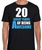 Great years of being awesome verjaardag cadeau t-shirt zwart heren 10251783