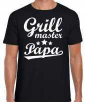 Grill master papa bbq barbecue cadeau t-shirt zwart heren