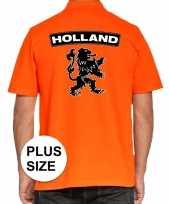 Grote maten koningsdag poloshirt holland leeuw oranje heren