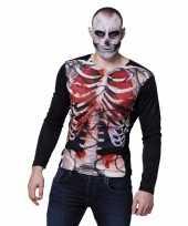 Halloween heren shirt bloederige zombie karkas
