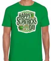 Happy st patricks day st patricks day t-shirt kostuum groen heren