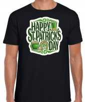 Happy st patricks day st patricks day t-shirt kostuum zwart heren
