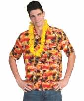 Hawaii shirt rood oranje
