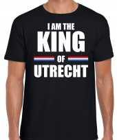 Koningsdag t-shirt i am the king of utrecht zwart heren
