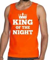Oranje king of the night tanktop mouwloos shirt heren