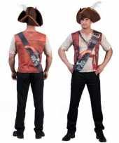 Piraat-shirt d opdruk heren