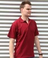 Poloshirt heren bordeaux rood