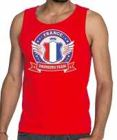 Rood france drinking team tanktop mouwloos shirt heren