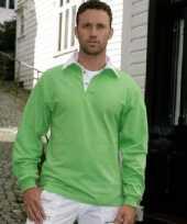 Rugbyshirt witte kraag