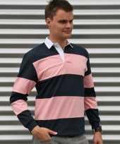 Rugbyshirts navy roze