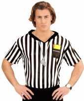 Scheidsrechter verkleed shirt heren