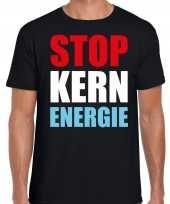 Stop kern energie demonstratie protest t-shirt zwart heren