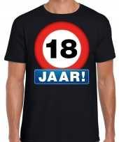 Stopbord jaar verjaardag t-shirt zwart heren 10218326