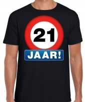 Stopbord jaar verjaardag t-shirt zwart heren 10218328