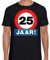 Stopbord jaar verjaardag t-shirt zwart heren 10218329