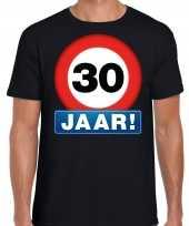Stopbord jaar verjaardag t-shirt zwart heren 10218333