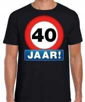 Stopbord jaar verjaardag t-shirt zwart heren 10218335