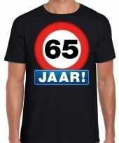 Stopbord jaar verjaardag t-shirt zwart heren 10218338