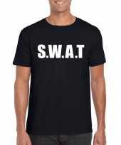 Swat tekst t-shirt zwart heren