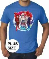 Toppers grote maten blauw toppers concert officieel shirt heren 10137578
