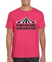 Toppers t-shirt roze lange stok heren