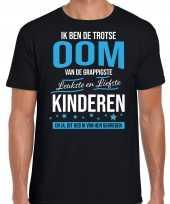 Trotse oom kinderen cadeau t-shirt zwart heren