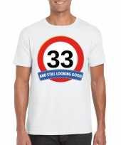 Verkeersbord jaar t-shirt wit heren 10120006
