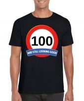 Verkeersbord jaar t-shirt zwart heren 10107083
