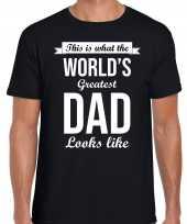 Worlds greatest dad cadeau t-shirt zwart heren