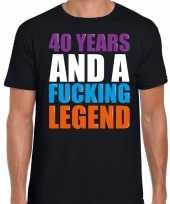 Year legend jaar legende cadeau t-shirt zwart heren 10198291
